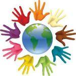 respeto (manos de colores sobre mundo)